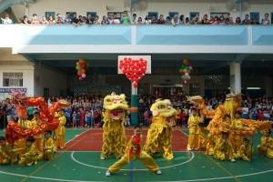 Dragon dance performance