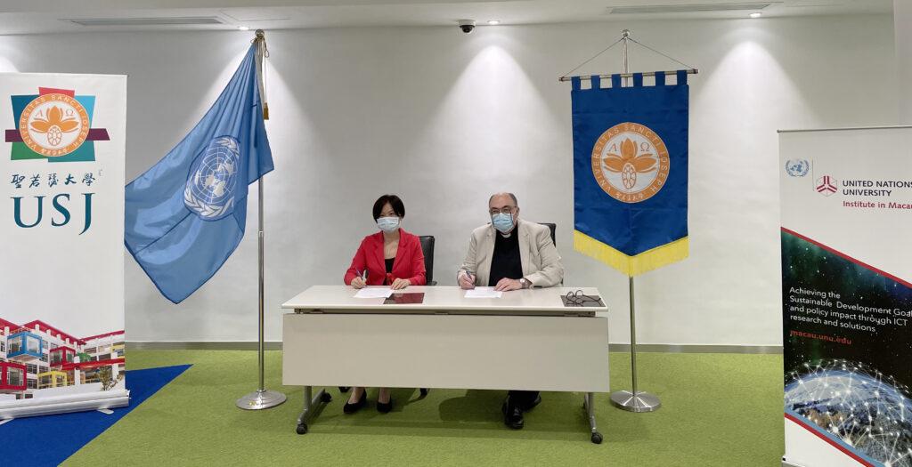 USJ e Universidade das Nações Unidas assinam acordo de cooperação