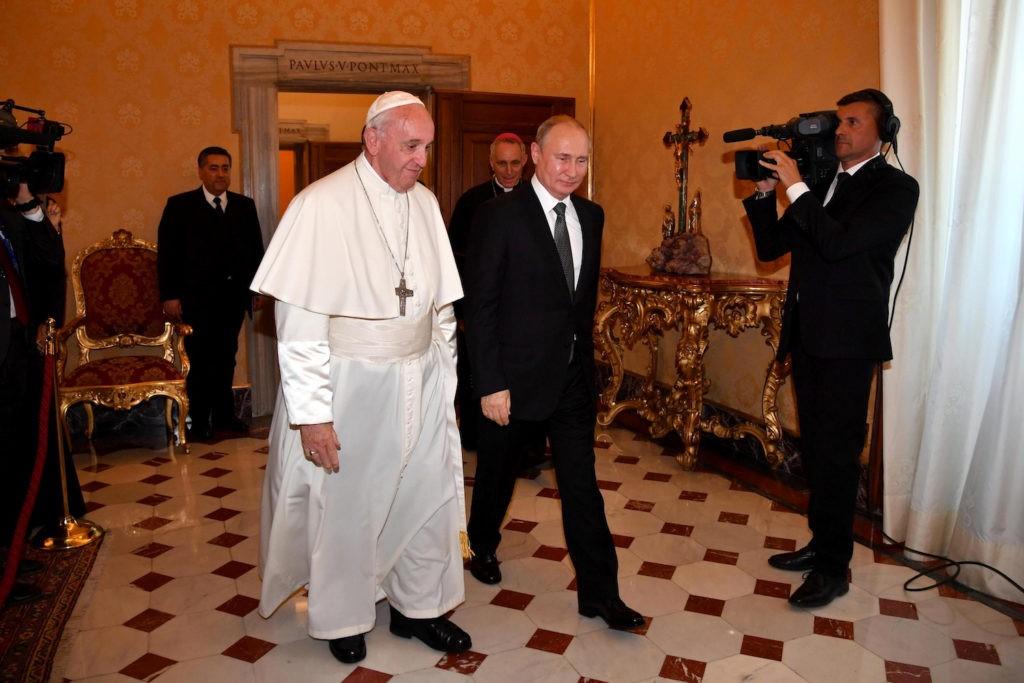 Papa Francisco recebeu Vladimir Putin
