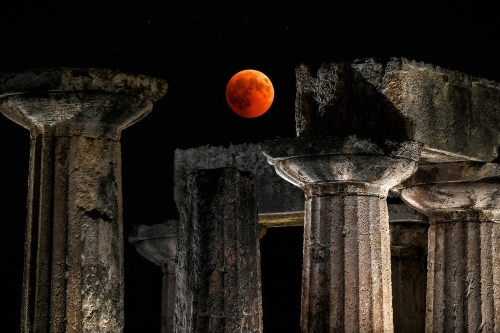 De olhos postos na Lua...