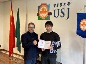 Aluno da USJ distinguido em mostra de design na China